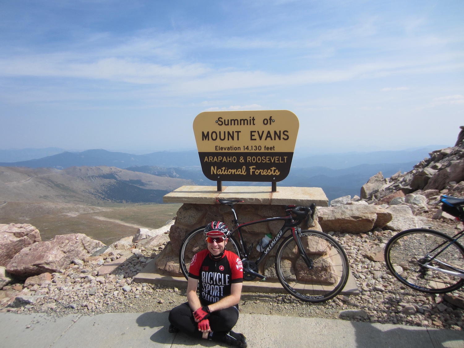 2015 Velo View bike vacation - Peak of Mt. Evans